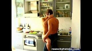 Cute Gay Jocks Fucked In The Kitchen